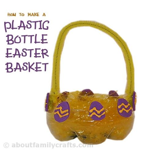 Plastic-Bottle-Easter-Basket-Craft