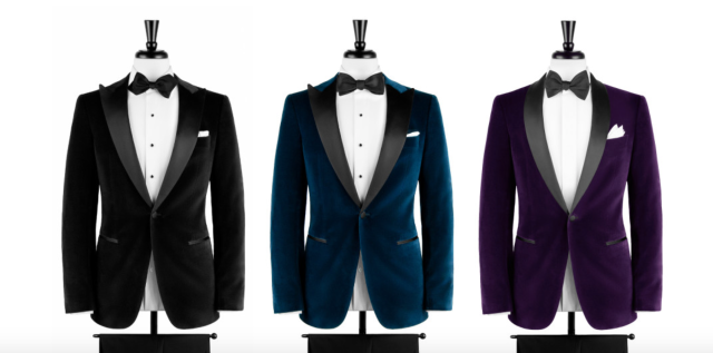 Velvet Dinner Jackets -- Deep Black, Blue and Purple.png