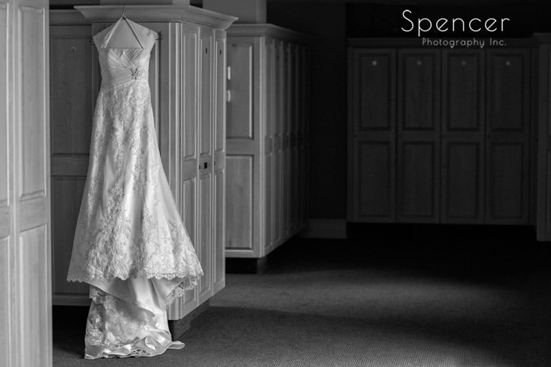 wedding-dress-in-locker-room-of-glenmoor-country-club
