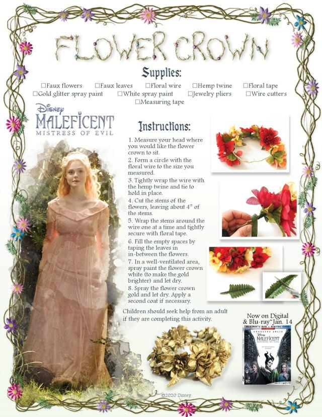 Maleficent Blueray Release Flower Crown Craft-ApprovedFinal-page-001